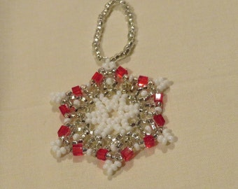 Ornament CoverDrape-Pink and White