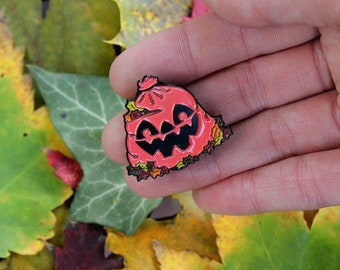 Leaf Eater Pin- 1.25 inches