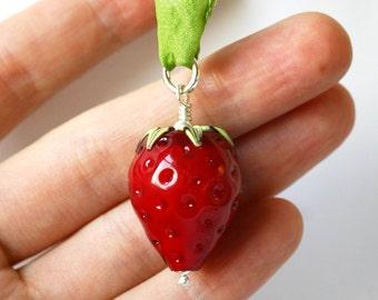 Large Strawberry pendant