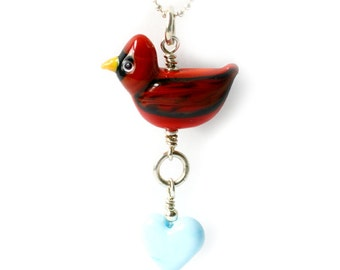 Red Cardinal Necklace