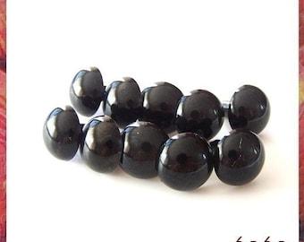 15mm BLACK Plastic eyes Animals eyes Amigurumi Craft eyes Safety eyes - 25 PAIRS (15b25)
