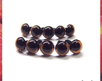 9 mm Translucent Brown Safety eyes Plastic eyes Amigurumi craft eyes - 5 PAIRS