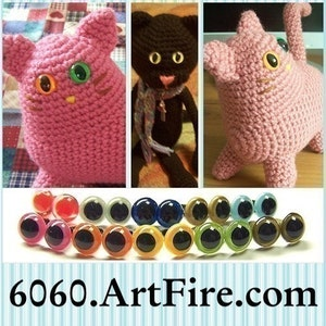 How to Embroider Almost Perfect Amigurumi Eyes   Crochet eyes ...   300x300
