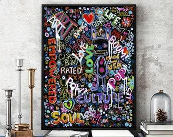 Prints, Posters & Canvas, Graffiti, Street Art, Urban Art, Pop Art, Abstract Painting, Modern Art, Contemporary Art, Dark Art, Home Decor
