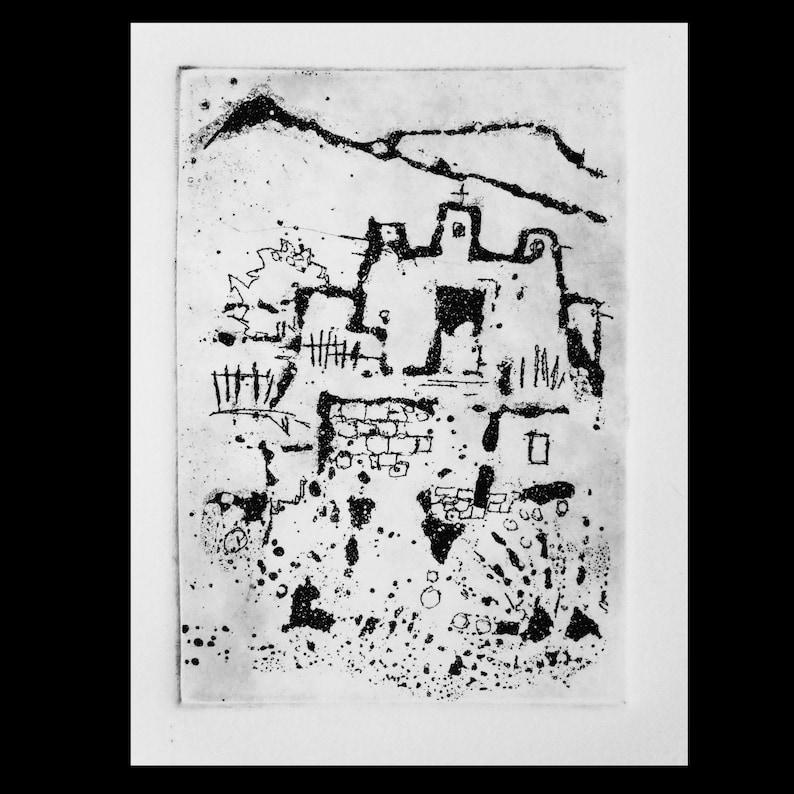 Jones DESERT MISSION...original sugar lift etching...hand signed open edition...Micheal W