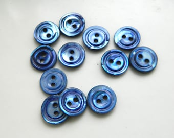 18mm buttons B137 Black Buttons
