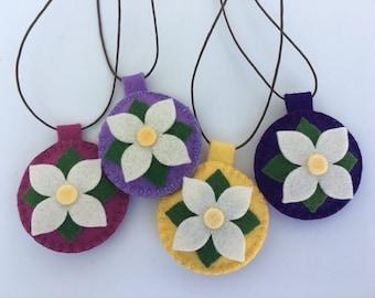 Wool and Lavender Herbal Pendant