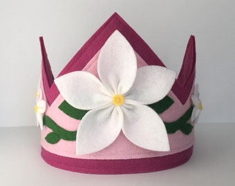Wool Felt Flower Crown