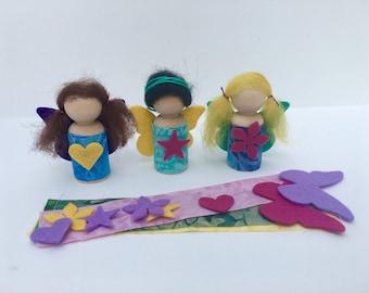 Fairy Dolls Craft Kit-- all natural fibers