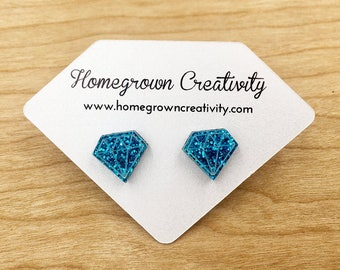 Gemstone Diamond Shape Earring Cards Customized with Logo - Jewelry Display - Packaging - Necklace Cards - Tags