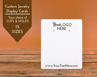 Custom Earring Cards | 16 SIZES | with Your Logo | Packaging | Tags | Label | Display
