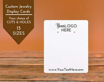 Custom Earring Cards | 15 SIZES | with Your Logo | Packaging | Tags | Label | Display Necklace Tag