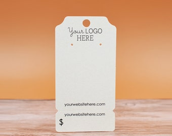 earring cards perforated bottom ticket shape peg hole product packaging display necklace cards
