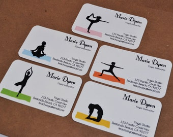 Yoga business card etsy custom yoga business cards calling cards 00112 colourmoves