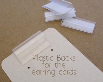 Earring card etsy 100 plastic backs lips for earring card adapters reheart Gallery