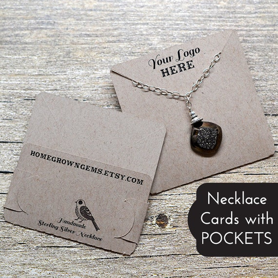 DS0034 Branding Necklace Cards Sandy Beach Sea Shells Customized Earring Display Cards Packaging Jewelry Tags
