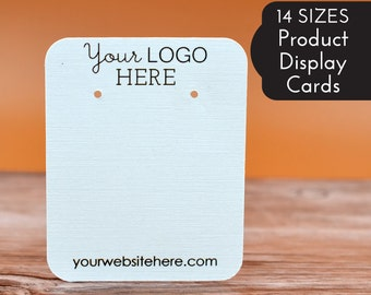 Custom Earring Cards | 20+ SIZES | with Your Logo | Packaging Jewelry Display Cards | Tags | Label | Display | DS2000