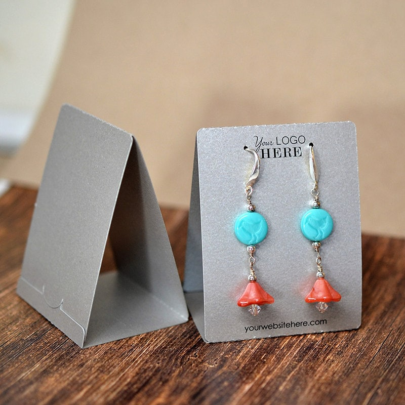 It is a picture of Amazing Free Printable Earring Card Template