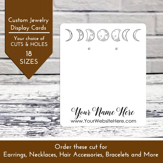 100 Plastic Earring Hanging Card 1.5X1.5 Black
