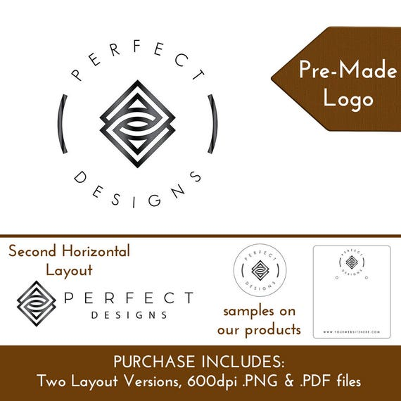 Pre-Made Geometric Logo Design | Customize Personalize for Jewelry Display Cards Packaging Branding | DS0155