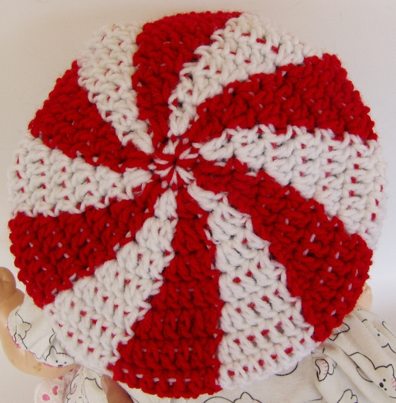 Crochet Pattern For Peppermint Swirl Candy Tam Hat Toddler And Etsy