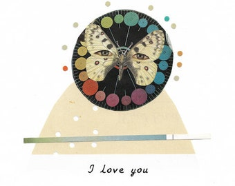 I love you, blank card, friendship card, miss you card, just because card, love card, valentines
