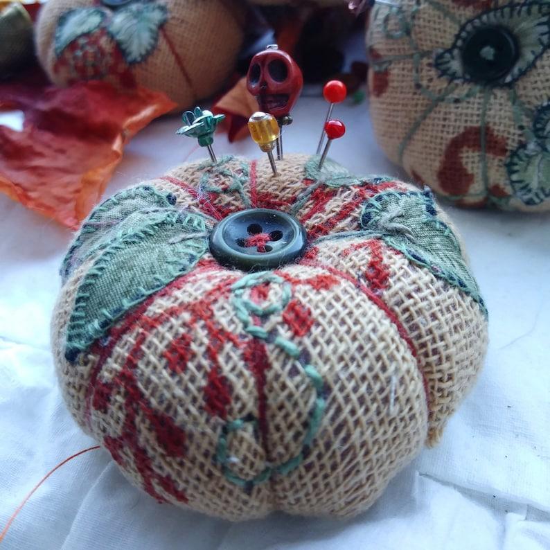 Pumpkin Pincushions