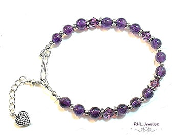 Angel Nurse Hearted Silver Bracelet with Loop ClaspBenefits Charity