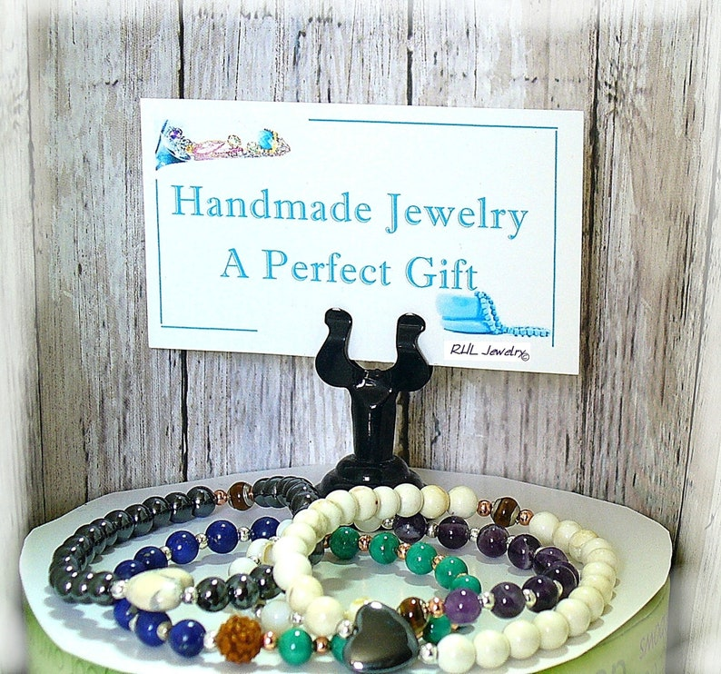 Redline Marble Chunky Stone Earrings Copper Earrings