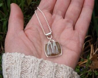 Rawhide, an Owyhee Jasper and silver necklace