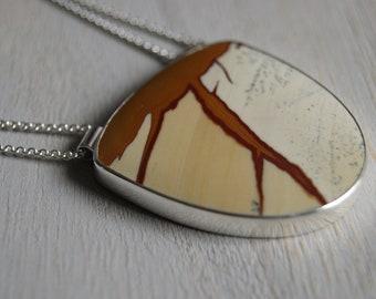 Thundercloud, an Owyhee jasper statement necklace