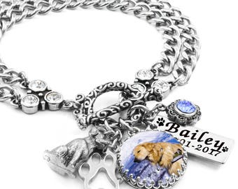 Custom Dog Charm Bracelet, Personalized Dog Bracelet, Dog Jewelry, Custom Dog Jewelry, Your Own Picture