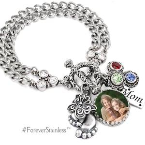 Family Tree Personal Family Tree Personalized Family Bracelet Legacy Bracelet Keepsake Photo Jewelry Family Photos Family Jewelry