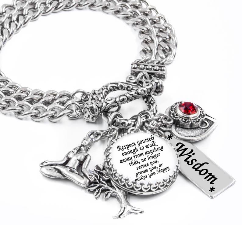 Encouragement Bracelet Engraved Jewelry Yin Yang Symbol Etsy