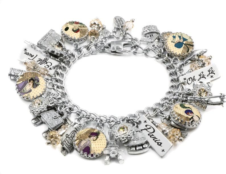 251270c9801 Silver Charm Bracelet Paris Jewelry Paris Bracelet Silver