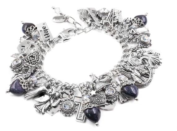 Silver Charm Bracelet Guardian Angels Jewelry Angels Charm Bracelet Angel Jewelry Designs Joyful Angel Jewelry
