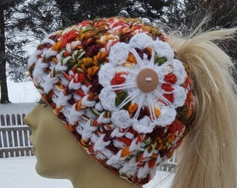 Double Trouble Ponytail Hat Pattern ONLY