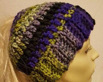Bulky Ponytail Messy Bun Hat Pattern