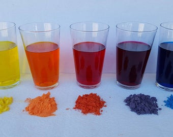1 ounce set of 5 Batch Certified dyes