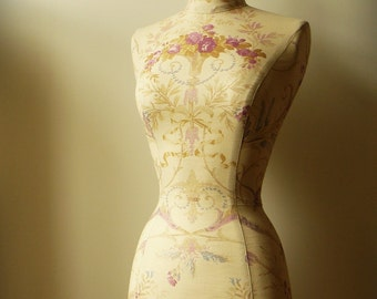 Home Decor Mannequin Dress Form Display Vintage French Style Laura Ashley Fabric  - Fleur