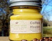 COFFEE HOUSE SOY Candle - Coffee Scented Candles, Coffee Candles, Espresso Candles, Coffee Beans Scent