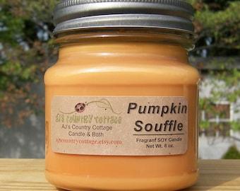 PUMPKIN SOUFFLE SOY Candle - Pumpkin Candles, Fall Candles, Autumn Candles, Fall Decor, Autumn Decor, Pumpkin Soy Candles, Spice Soy Candles