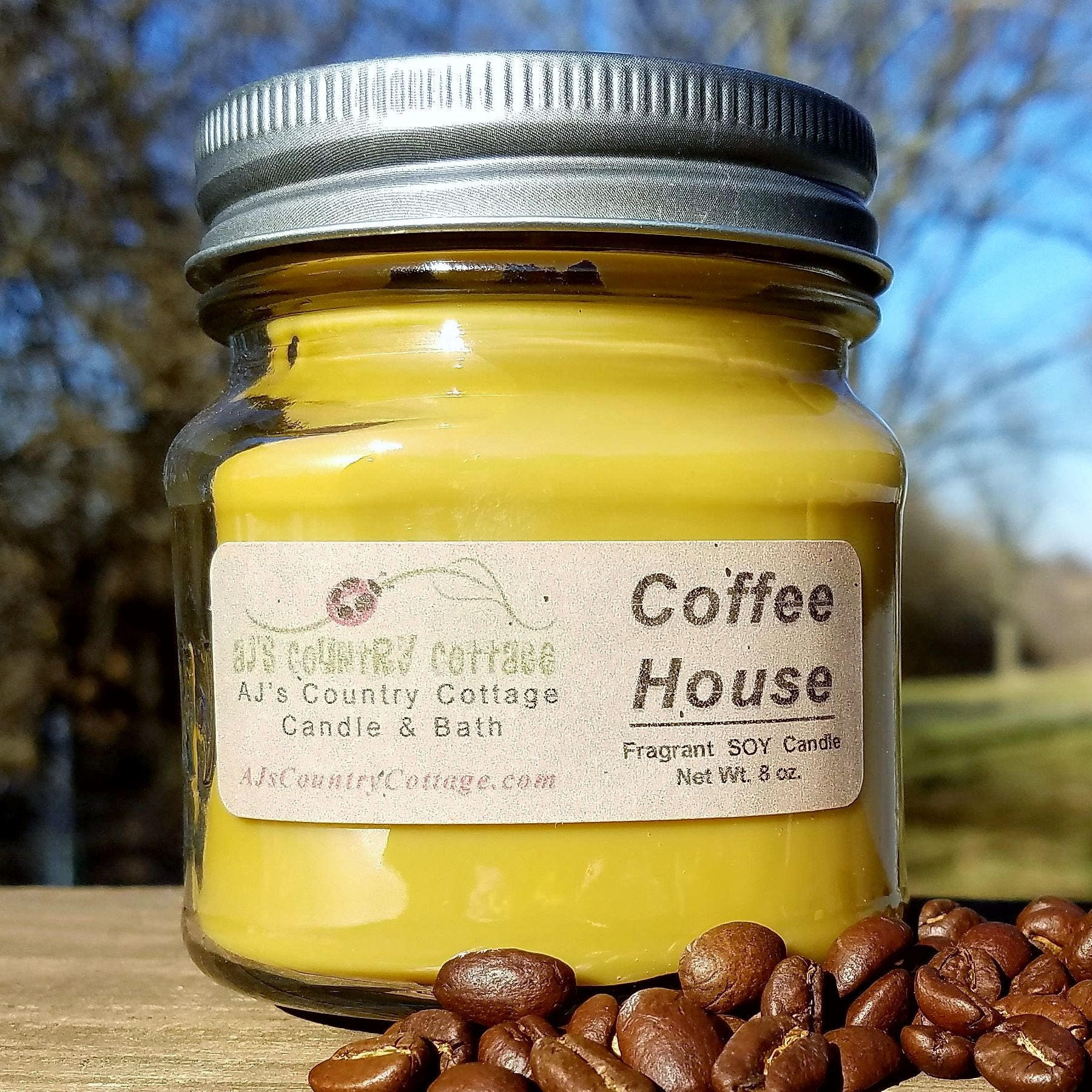 COFFEE HOUSE SOY Candle Coffee Scented Candles Coffee | Etsy