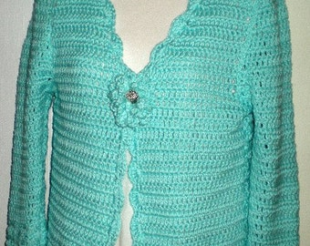 XS - 1X Sweaters, Sweater, Cardigans,Cardigan Sweater, Womens Sweaters, Girls Sweaters, Clothing,Fashions, Teal, Crochet, Cotton