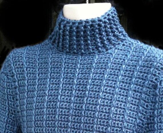 Pullover Männer Frauen Unisex Blau Häkeln Herren Etsy