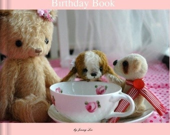 LIMITED Birthday Book by bear artist Jenny Lee of jennylovesbenny bears - IMAGE WRAP hard cover