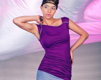 Purple Asymmetrical Tunic