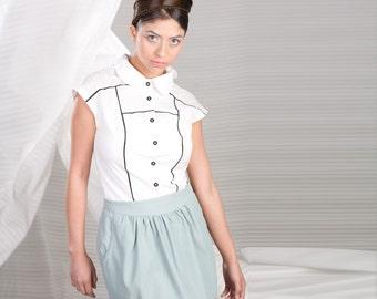 Pleated Parachute Skirt