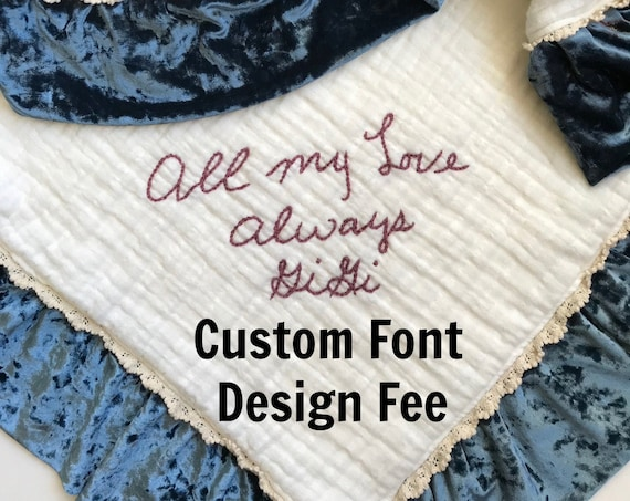Custom Font Design Fee for Personal Handwriting of Custom Fonts for ReSizing Design Only