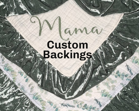 Custom Backing Design and Finder Fee to Add On to a Blanket or Lovey